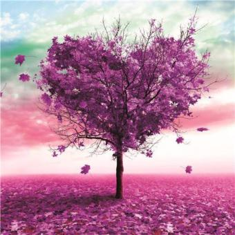 Rhinestone art FULL! Purple heart tree (premium beads) Price Philippines