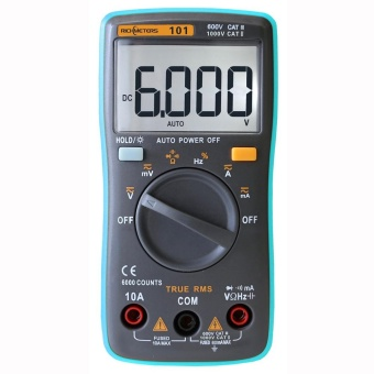 RICHMETERS RM101 True RMS Multifunctional LCD Digital Multimeter DMM DC AC Voltage Current Meter Resistance Diode Capacitance Tester Measurement Automatic Polarity Identification Ammeter Voltmeter Ohm - intl