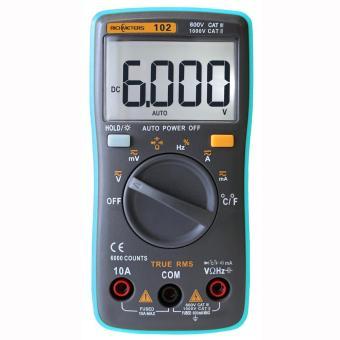 RICHMETERS RM102 True RMS Multifunctional LCD Digital MultimeterDMM DC AC Voltage Current Resistance Diode Capacitance TemperatureTester Measurement Automatic Polarity Identification AmmeterVoltmeter Ohm - intl - 3