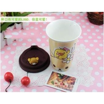 Rilakkuma Lovable Bear Ceramic Tumbler with Silicone Lid 350ml - 2