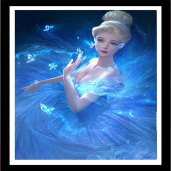 Rising Star Cinderella DIY 5D Diamond Painting Cross Stitch FullDrill Rhinestone Painting Decor J-21 - 2