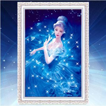 Rising Star Cinderella DIY 5D Diamond Painting Cross Stitch FullDrill Rhinestone Painting Decor J-21 - 3