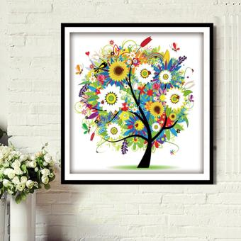 Rising Star Summer Fortune Tree DIY 5D Diamond Painting CrossStitch Full Drill Rhinestone Painting Decor #8749
