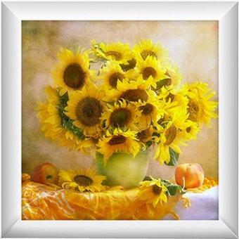 Rising Star Sunflower DIY 5D Diamond Painting Cross Stitch FullDrill Rhinestone Painting Decor #8614 - 2