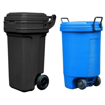 Roller King Small (Black) and Trolley Bin (Blue)