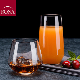 Rona lead-free crystal glass juice cups long drink cup