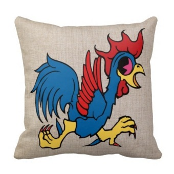 Rooster Double-Side Printing Pillow Case Cover