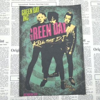 Rorychen 41.6cm * 29.7cm Green Day Band Poster Rock Music RetroPoster Bar Cafe Decorative
