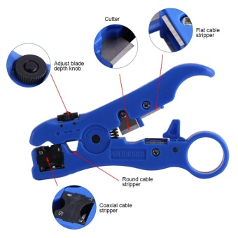 Rotary Coaxial Cable Cutter Tool RG58 RG6 Stripper For Network Tool Computer Net