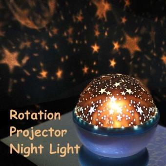 Rotation Star Sky Kid Luminous Light Lamp Night Projector RomanticDecoration (Intl)