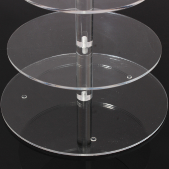 Round Acrylic 4 Tier Cupcake Cake Stand For Birthday Celebration Party Cake Shop - 4