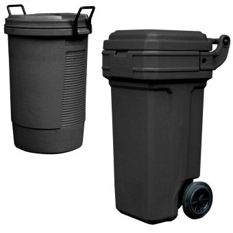 Round Bin (Black) and Roller King Small (Green)