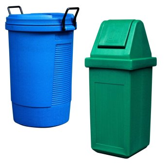 Round Bin (Blue) and Waste Master King (Green) - picture 2