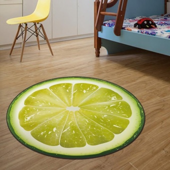 Round Kitchen Floor Mats Absorbent Computer Chair Mat Kids PlayMats Durable Carpets for Living Room Bedroom 60x60CM - intl