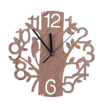 Round Wall Clock Wood Life Tree Retro Clocks Home Decorate - intl Price Philippines