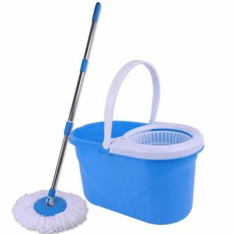 Rukia New 360? Microfiber Magic Rotating Spin Head Easy CleaningFloor Mop Bucket Set (Navy Blue) - 4