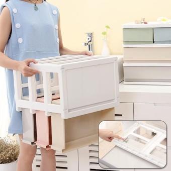RuYiYu - 38.7 x 25.7 x 26cm, Multi Purpose Desktop Drawer UnitOrganizer,Bedroom 2 Layers Design Storage Box Container CabinetColorful - intl - 4