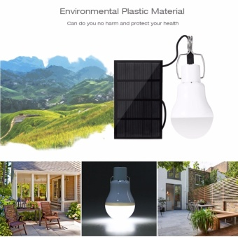 S-1200 130LM Portable Led Bulb Light Charged Solar Energy Lamp - intl