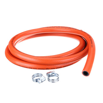 S & F 2 Metres High Pressure 8mm Gas Hose Kit with 2 Hose ClipsNo Spanner