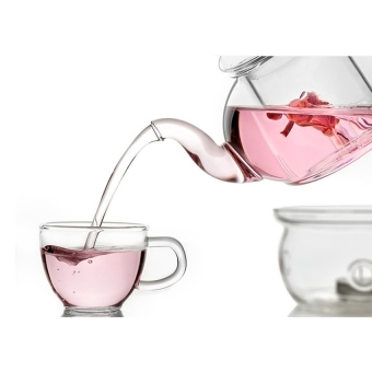 S & F Heat Resistant Glass Teapot Infuser Tea Pot Clear 350ML(Intl)