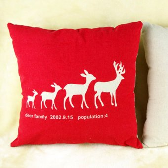 S & F Home Decor Pillow Cover Xmas Merry Christmas/Santa Claus/Deer Cushion Cases New - Intl - picture 2