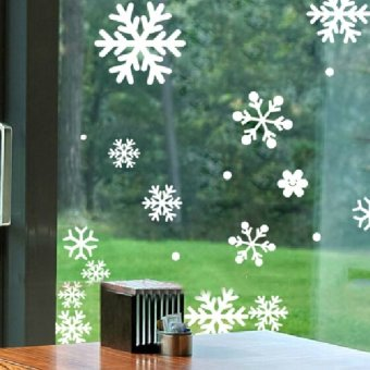 S & F Snowflakes Wall Sticker Decal Home Make for Christmas Glasses Window - Intl