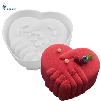 S size Romantic Silicone Heart Shaped Cake Mold Baking Mold - intl