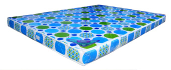 "Salem 4"" B Foam Mattress (White/Blue) - picture 2"