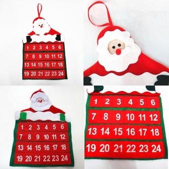 Santa Claus Christmas Advent Calendar Countdown Xmas Decor With Pockets Novelty - intl - picture 2