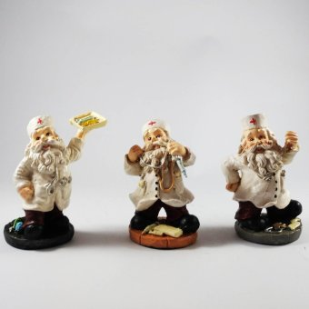 Santa Claus Doctor Set of 3 Figurines for the Holiday (Made ofFiberglass Resin) by Everything About Santa (Christmas decorationand gift suggestion)