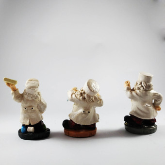 Santa Claus Doctor Set of 3 Figurines for the Holiday (Made ofFiberglass Resin) by Everything About Santa (Christmas decorationand gift suggestion) - 3