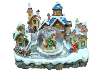 Santa Claus Electric Christmas Village Globe with Lights by Everything About Santa (Christmas decoration and gift suggestion) - picture 2