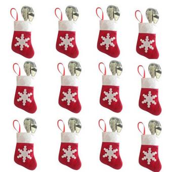 Sanwood® Xmas Socks Cutlery Bag Christmas Decor 12Pcs/Set
