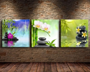 Scenery Painting Canvas Oil Painting Print Zen Stone 3pcs Wall ArtDecor for Living Room Home Decoration Unframed Price Philippines