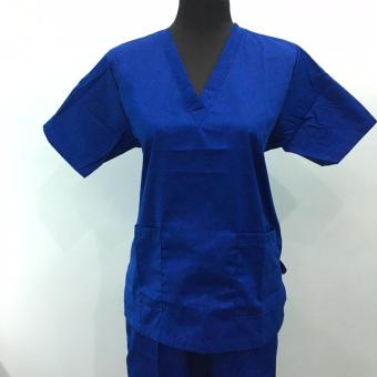 Scrub suit set royal blue-Large