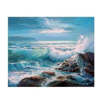 Sea Waves Scenery 5D Diamond DIY Painting Home Decor Craft - intl Price Philippines