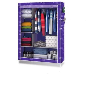 SeanSean Lovely Designs Storage Wardrobe Clothes Organizer KW-105NTFloral Design (Purple) Price Philippines