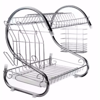 SeanSean New Arrival 2 Layer Stainless Dish Drainer Rack NO. J-802