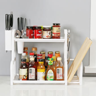 Seasoning bottle organizing rack kitchen shelf