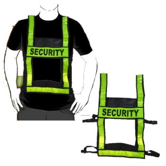 Security Safety Vest with adjustable strap High Visibility Reflective