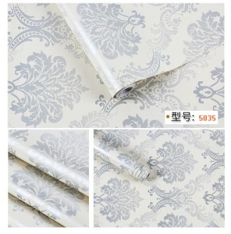 Self-adhesive bedroom waterproof European adhesive paper Wallpaper