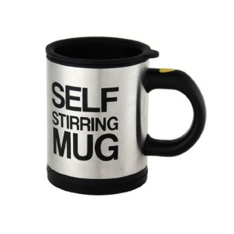 Self Stirring Mug (Black/Silver)