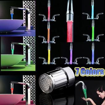 Sensor LED Lights 7 Colors Changing Shower Head Water Faucet ForKitchen Bathroom (Multicolors) - Intl - 2