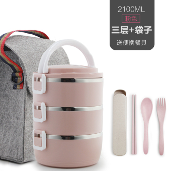 Seperated multi-adult plastic lunch boxes insulated container