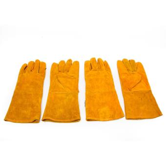 "Set of 2 Fujima Leather Welding Gloves 12"" (Brown)"