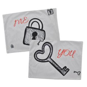 Set of 2 Perfect Cotton Bedding Pillow Case Me and You - 2