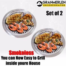 ... Stove top Smokeless Stainless Indoor and Outdoor Barbeque Grill (Silver)PHP829. PHP 849