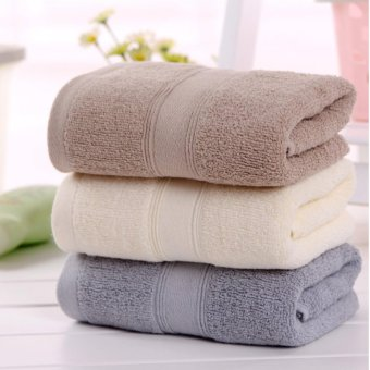 Set of 3 Magic cotton Face Towel 33*73cm Adult Hotel Children 100% cotton - intl