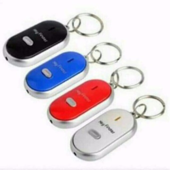Set of 4 Key Finder with led light easy to use just whistle COLORMAY VARY