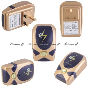 Set of 5 Power Factor Saver Electricity Saving Box UK Plug(Gold) -intl Price Philippines